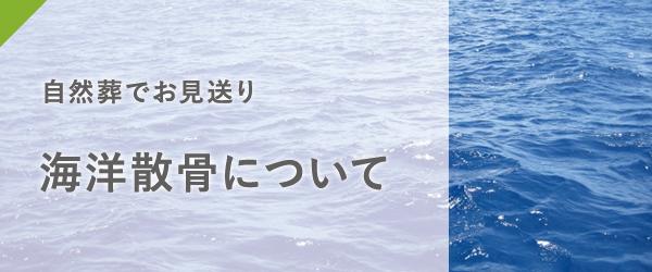 自然葬でお見送り 海洋散骨について